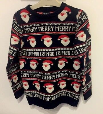 Next Christmas Jumpers.Next Boys Santa Christmas Jumper Knitted Sweater Age 9 Years