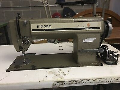 Industrial Sewing Machine.  Singer 591 Needle Feed With 110 Motor
