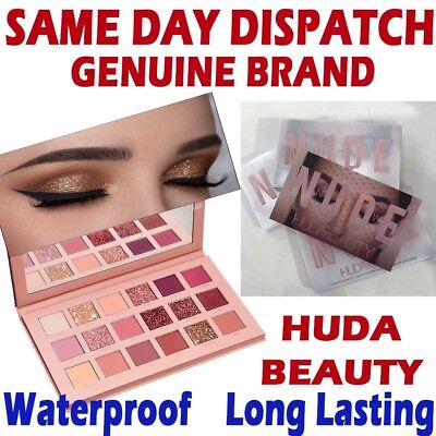 BRAND NEW HUDA BEAUTY NEW NUDE Eye Rose Shadow Palette 18 Colours Sealed Box