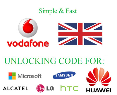 Vodafone UK Unlocking Service Unlock code Samsung Huawei Sony Lumia Google HTC