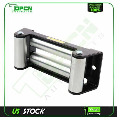 10'' Heavy Duty 4 Way Roller Fairlead Roller Cable Guid for 8000-12000lbs Winch