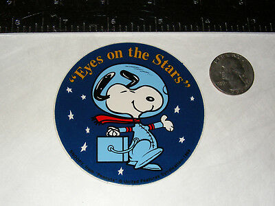 "Original Snoopy Astronaut ""Eyes on the Stars"" Sticker ""Decal"" NASA Apollo Skylab"