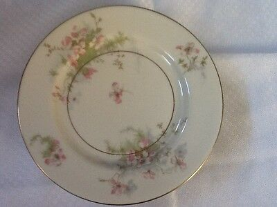 Theodore Haviland Apple Blossom Bread and Butter Plates with Gold Trim (4)