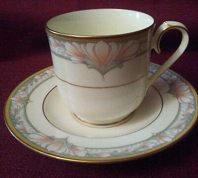 Noritake Bone China Barrymore (9737) Footed Cup And Saucer Set