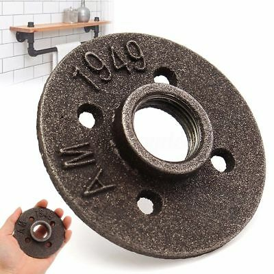 3/4'' Threaded Malleable Iron Floor Flange Fitting Pipe Wall Mount BSP Thread US