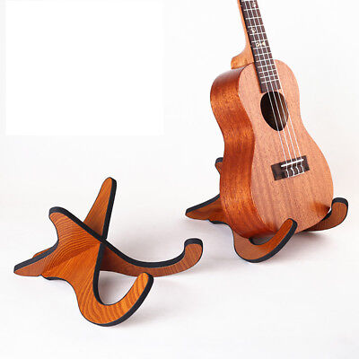 2X Wooden Stand/Holder Bracket Mount For 21/23/26 Ukulele Violin Mandolin Banjo