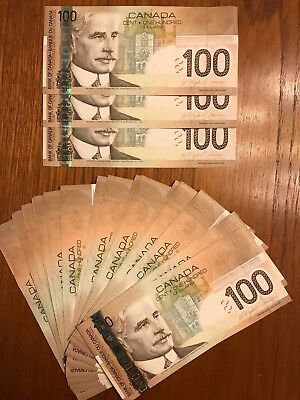 1X Canada Canadian $100 GEM UNC  Banknote Bill Currency, Consecutive SN, 2004