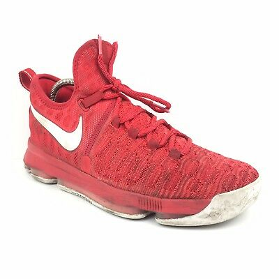 brand new d87b2 a00e6 Men s Nike Zoom KD IX 9 Red Basketball Shoes Size 9 Athletic Sneakers  843392-611