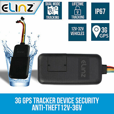3G GPS Tracking Device Tracker Real Live  Security Vehicle Car Anti-Theft 12V-36