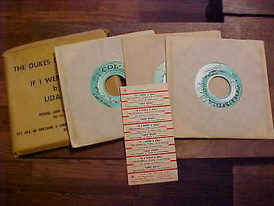 The Dukes of Dixieland Jazz 45 Jukebox Records w Title Strips 1957 Lida Rose