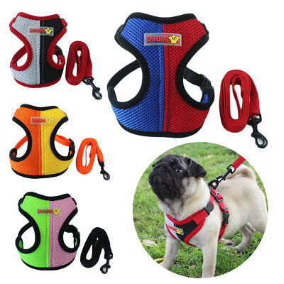 Mesh Walk Leash Puppy Vest Dog Harness Chest Strap Pet Traction Rope Collar