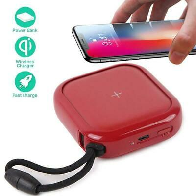 MIPOW Portable Wireless Charger, Ultra-Compact Qi 10000mah Power Bank with for B