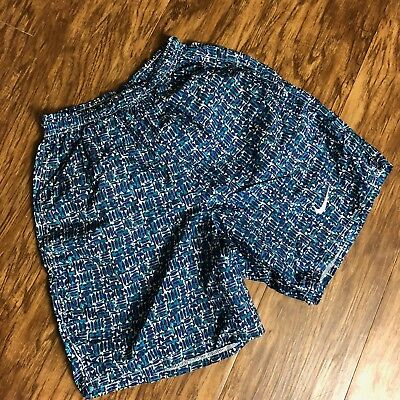 Vintage 90s Nike Mens Shorts Size Small Pattern Aztec Colorful Retro