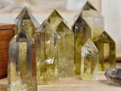 """Natural (REAL) Citrine Standing Point (3"""") - Single Piece"""