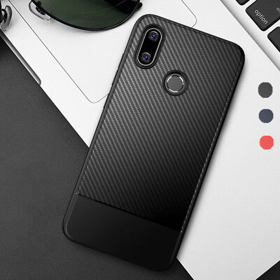 For Xiaomi Mi 8 SE Luxury Case Slim Carbon Fiber Soft Silicone Back TPU Cover