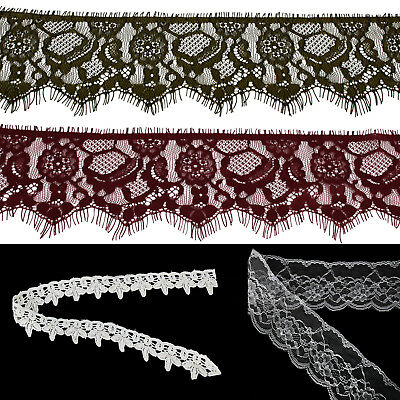 Cotton Lace Floral Vintage Antique Trim Edge Ribbon Wedding Bridal Dress Décor