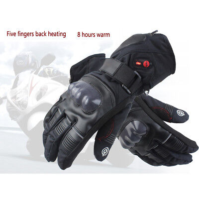 8h Battery Electric Heated Hand Winter Warm Gloves Waterproof Motorcycles Skiing