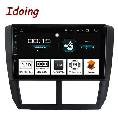 """1Din 9""""Car Radio GPS Player Android8.0For Subaru Forester 2008-2012 4G+64G 8core"""