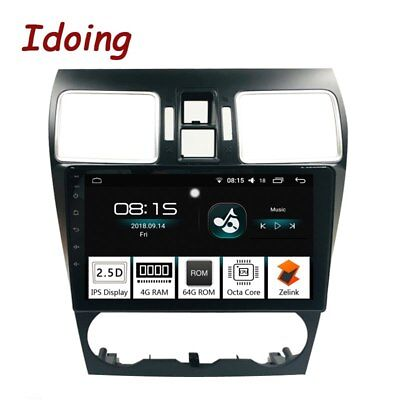 """9""""2.5D IPS Screen Car Android8.0GPS Player 4G+64G 8Core For Subaru WRX 2016-2018"""