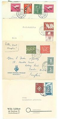 Star A18 Germany Bund 1955/60 4 Covers used Service