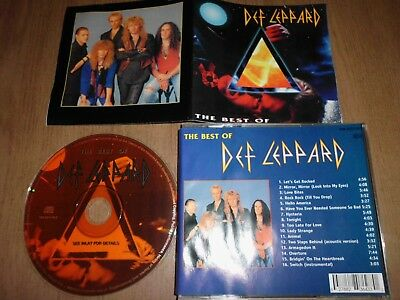 DEF LEPPARD The Best Of RARE CD Adrenalize Hysteria Pyromania
