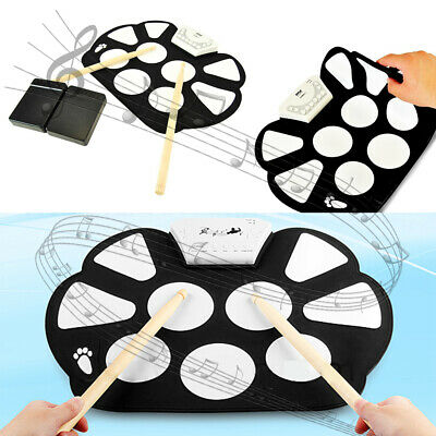 Electronic Roll Up Drum Kit Silicone Portable Electric  9 Pad Drum Kit USB MP3