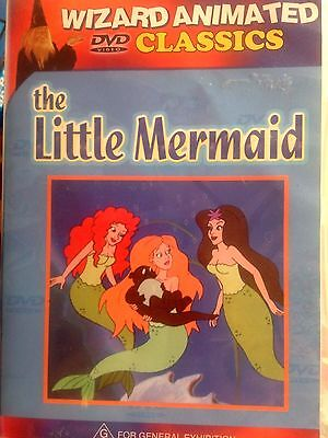 The Little Mermaid Dvd * Wizard Animated Classics *used *