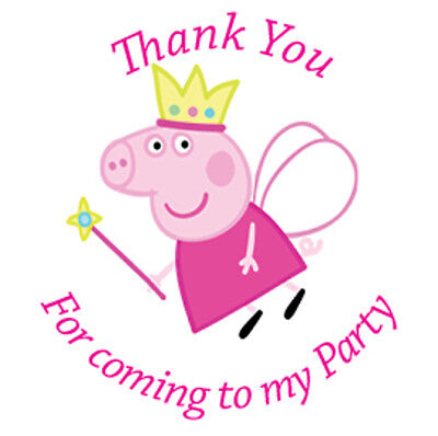 Peppa Pig Birthday Party Sticker Thank You Sweet Cone Labels 12 15 Or 35