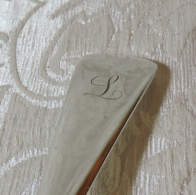 Victorian Silver Plate Old English Soup Ladle W Hutton Mestolo zuppa  Sheffield