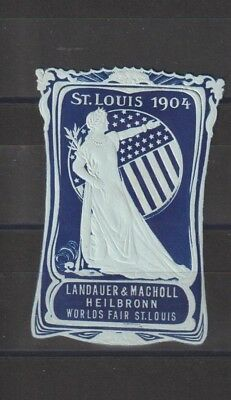 US Poster Stamp Advertising St Louis 1904 Cat NO. 3.3.27d