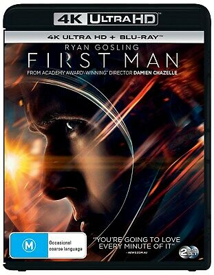 First Man 4K Ultra HD Blu-ray Digital Download UHD Region B NEW