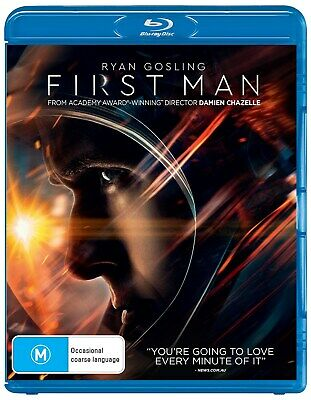 First Man with Digital Download Blu-ray Region B NEW