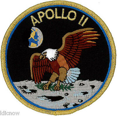Apollo 11 Mission Embroidered Patch 10cm Dia approx