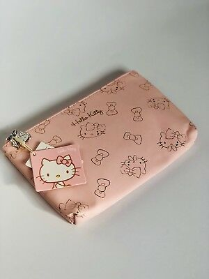 383e0166f Hello Kitty Zipper Pouch - Makeup bag; Pencil case; Gift for her, Cosmetic