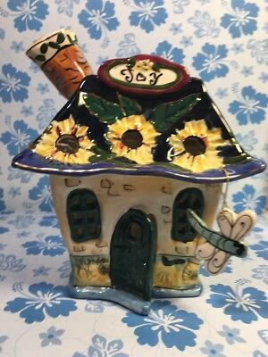 "Original Clayworks ""Joy"" Cottage  By Blue Sky, Candle Cover 2003"