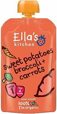 Ellas Kitchen Stage 1 Sweet Potato Broccoli & Carrots 120g (Pack of 7)