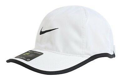 0e96d8ab54d Nike Feather Light Tennis Caps Hat White Dri-Fit Golf Head-wear Cap 679424
