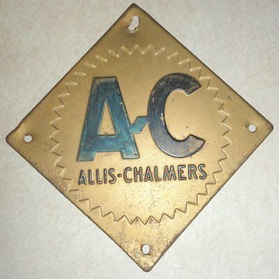 """VINTAGE ALLIS-CHALMERS 6""""x6"""" METAL SIGN, Farm,Tractor,Barn,Gas,Oil,Machinery,WI"""