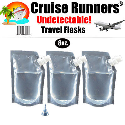 Cruise Plastic Travel Flask Kit Runners Rum Alcohol Liquor Smuggle Hidden Booze
