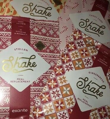 EXANTE All 4 Festive Flavours - 85 Shakes & 3 Bars = One Month +++