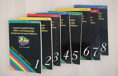 1987 World Athletics Championships Full Programme - All 8 volumes