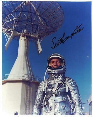 Scott Carpenter Mercury Astronaut Signed Photo