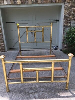 Antique Vintage  Brass Bed Full Size with Rails