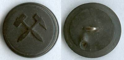 Knopf Bergbau Weimarer Republik um 1930 Uniform button bottone 18mm Horn