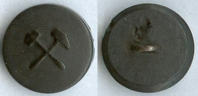 Knopf Bergbau Weimarer Republik um 1930 Uniform button bottone 17,5mm Horn