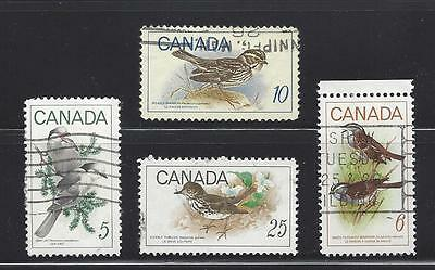 """Canada 1969 # 478 , 496-498 """" Birds """" Complete Set used 478(d)"""