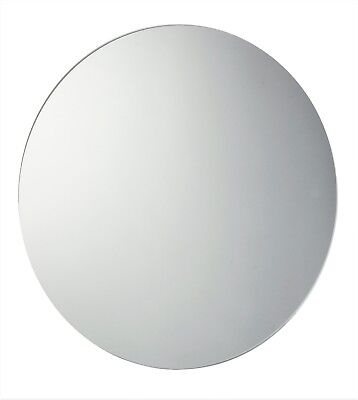 60cm Circular Round Frameless Glass Bathroom Mirror with wall hanging fixings