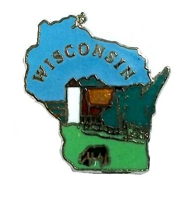 Wisconsin State Outline Hat Tac or Lapel Pin