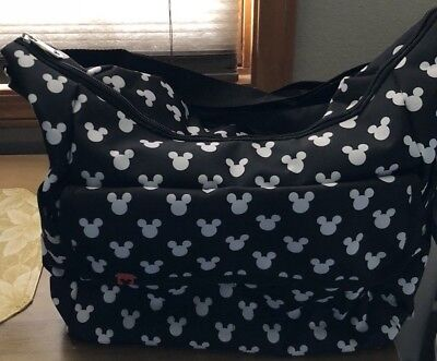 NWT Disney Mickey Mouse Diaper Bag Large Tote Black and White