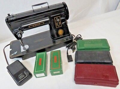Vintage Working Singer 301 Sewing Machine with Accessories